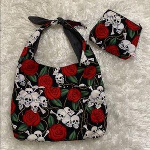 Sugar Kitty Corsettes skull cloth purse & pouch